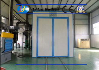 China Indoor Air Sandblasting Room Customized Automatic Recycling System Iron Plate Materials supplier