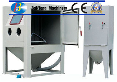 China CE Certified Sand Blasting Unit , Manual Sandblast Cabinet Customized Fixed Turntable supplier