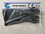 China Black Color Sandblast Cabinet Gloves Durable For Manual Sandblasting Machine factory