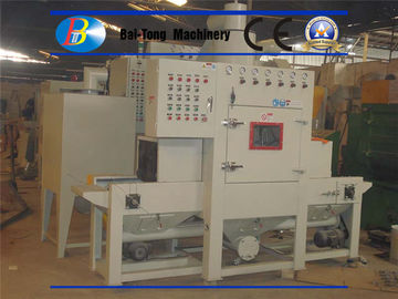 Small Flat Parts Automatic Sandblasting Machine Adjusted Belt Conveyer Speed