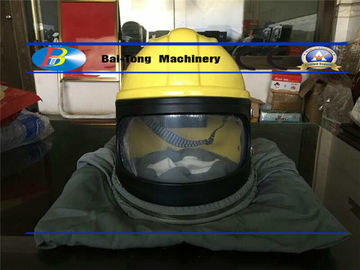 Air Temperature Regulating Sandblasting Helmet , Abrasive Blasting Helmet Puncture Protective
