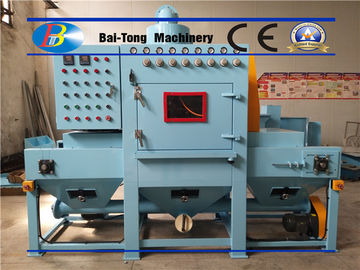 Uniform Surface Finishing Industrial Sandblaster Mini Triangle Conveyor Belt Type