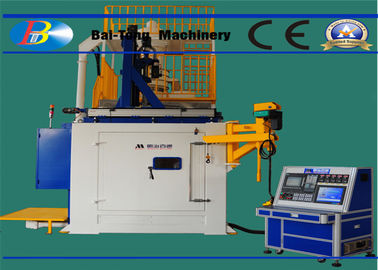 Double Chamber CNC Shot Peening Machine Continuous Pressure Module For Fan Blade
