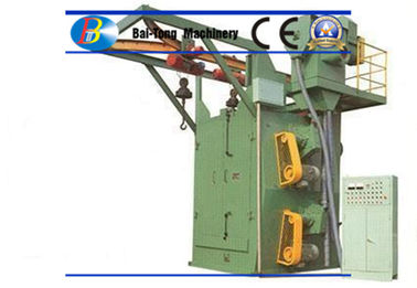 Double Hooks Steel Shot Blasting Machine Good Cleaning Efficiency For Mass Production