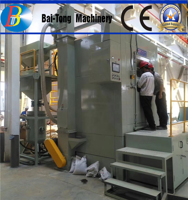 Automatic Turntable High Pressure Sandblasting Equipment Electric Fuel For Heavy Mould